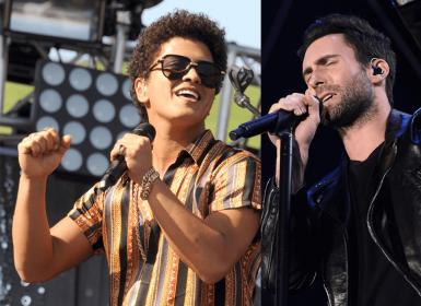 10 músicas de Bruno Mars e Maroon 5 que não cansamos de escutar